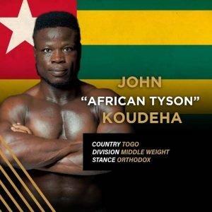 """""""African Tyson"""" John Koudeha"""
