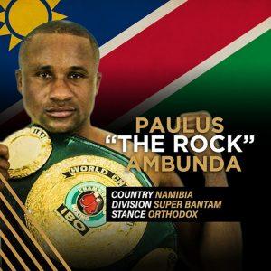 """The Rock"" Paulus Ambunda"